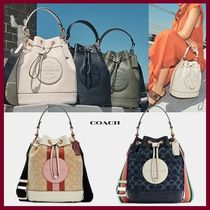 【COACH】Dempsey ドローストリング バケット バッグ 2way☆