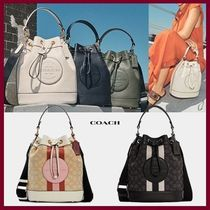 Coach(コーチ) ショルダーバッグ・ポシェット 【COACH】Dempsey ドローストリング バケット バッグ 2way☆