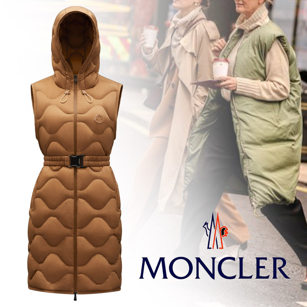 MONCLER(モンクレール)21-22AW*Liveche*ロング丈 ダウンベスト (MONCLER/ダウンベスト) G20931A0010053333