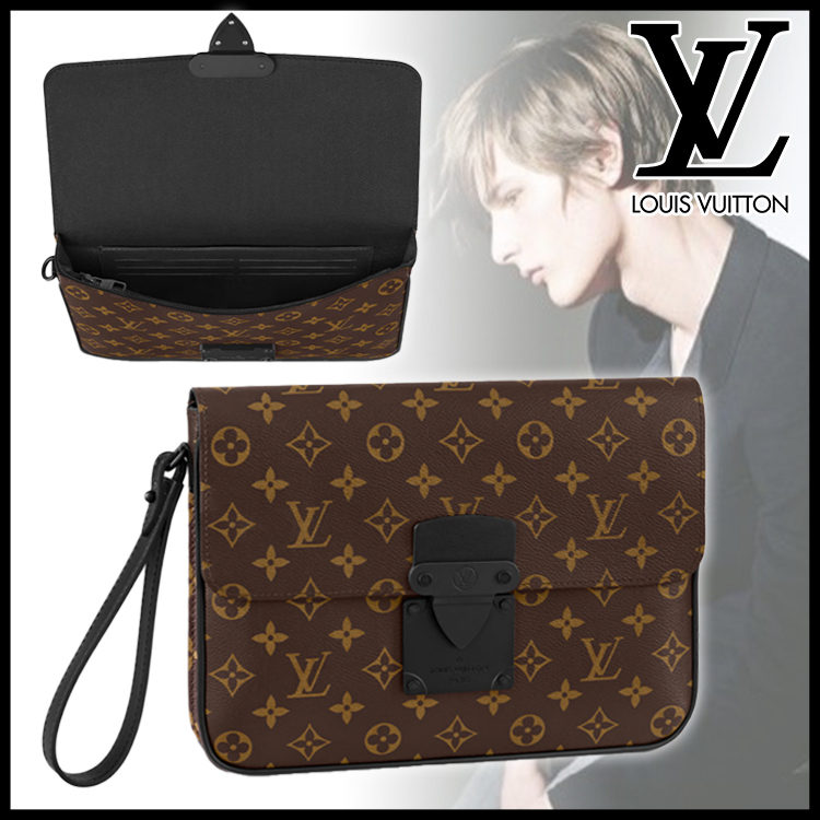 21AW★直営店★LouisVuitton★ Sロック クラッチバッグ A4サイズ (Louis Vuitton/クラッチバッグ) M80560