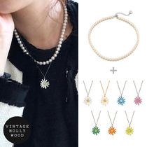 VINTAGE HOLLYWOOD(ヴィンテージハリウッド) ネックレス・チョーカー ★VINTAGE HOLLYWOOD★Classic Pearl + Daisy Necklace セット