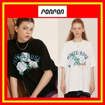 [RONRON] WHITE ROSE OVER FIT T-SHIRT/2色/兼用/追跡付