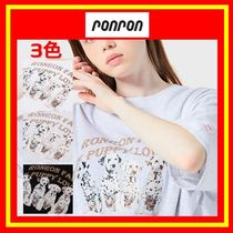 [RONRON] OVER FIT PUPPY T-SHIRT/3色/兼用/追跡付