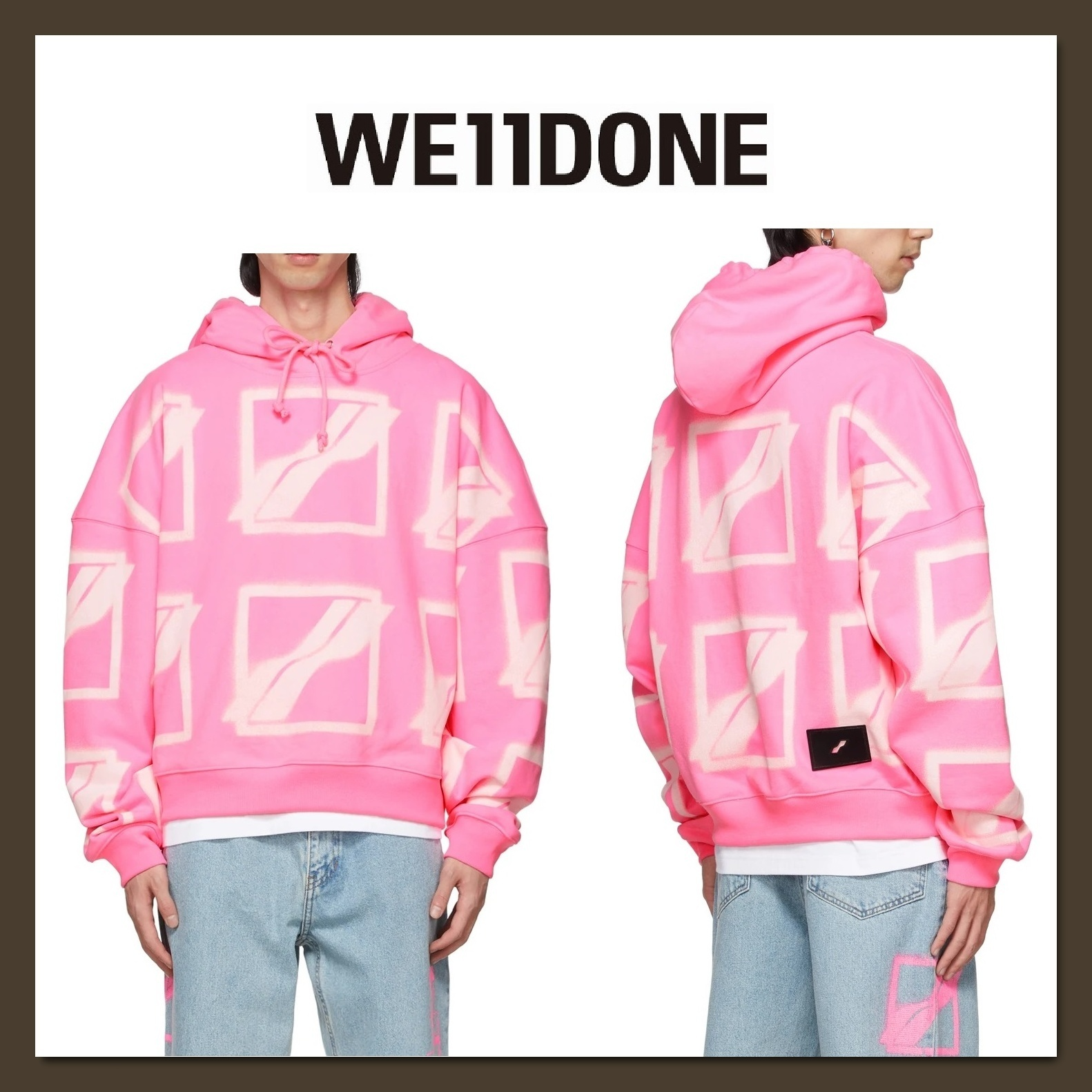 We11Done(ウェルダン)★ロゴフーディNeon pink★関税&送料込 (We11Done/パーカー・フーディ) 71144618