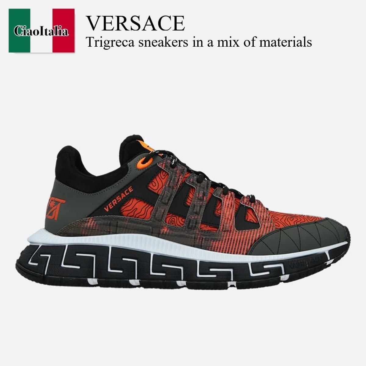 Versace Trigreca sneakers in a mix of materials (VERSACE/スニーカー) TRIGRECA SNEAKERS IN A MIX OF MATERIALS  DSU809 4D17TC  DSU809 4D17TC G6K0