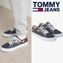 Tommy Hilfiger★LOGO PRINT LACE UP SNEAKERS