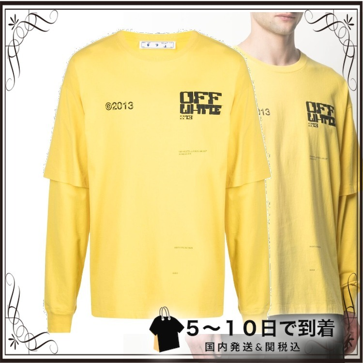 ☆SALE☆Tech Marker ダブルスリーブ Tシャツ (Off-White/Tシャツ・カットソー) OMAB022S21JER0051910