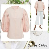 See by Chloe★ギャザー コットン ブラウス【送料・関税込み】