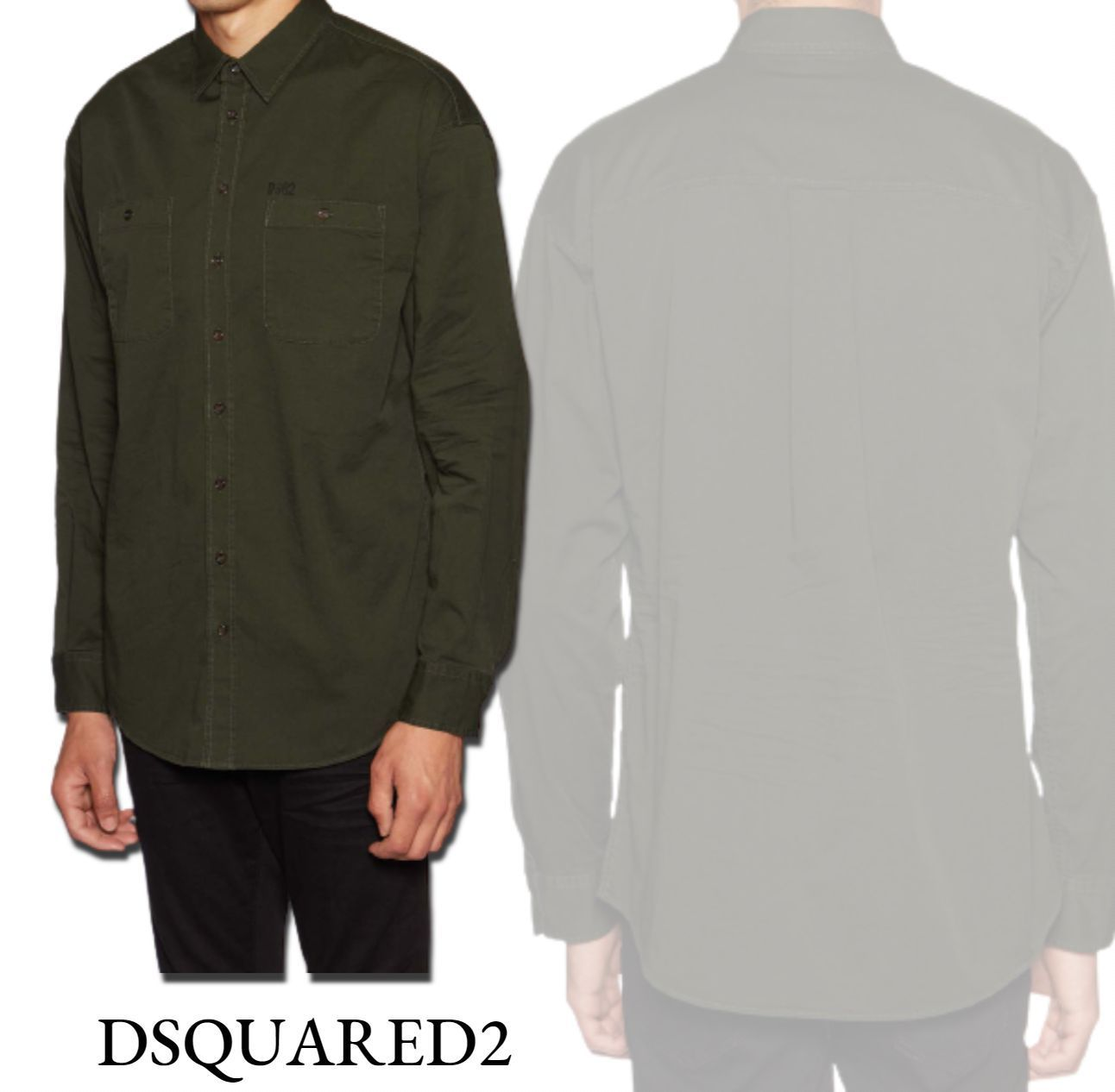 《DSQUARED2》大人気☆ロゴプリント シャツ☆国内発送&関税込 (D SQUARED2/シャツ) 71217891