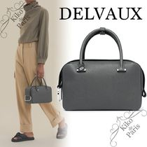 """♪Delvaux♪ Cool Box MM バッグ 新色 """"Smoke"""" Taurillon Soft"""