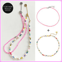 【VH】Candy Beads+Pearl n Crystal Beads〜ネックレス2連セット