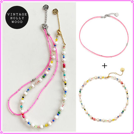 【VH】Candy Beads+Pearl n Crystal Beads~ネックレス2連セット