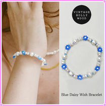 【VINTAGE HOLLYWOOD】Blue Daisy Pearl Bracelet〜ブレスレット