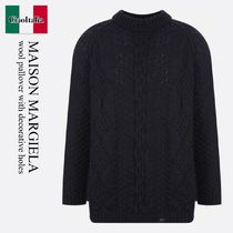 Maison Margiela wool pullover with decorative holes