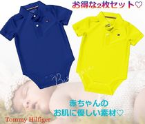 Tommy Hilfiger TH BABY SOLID POLO ONESIE トミー ロンパース