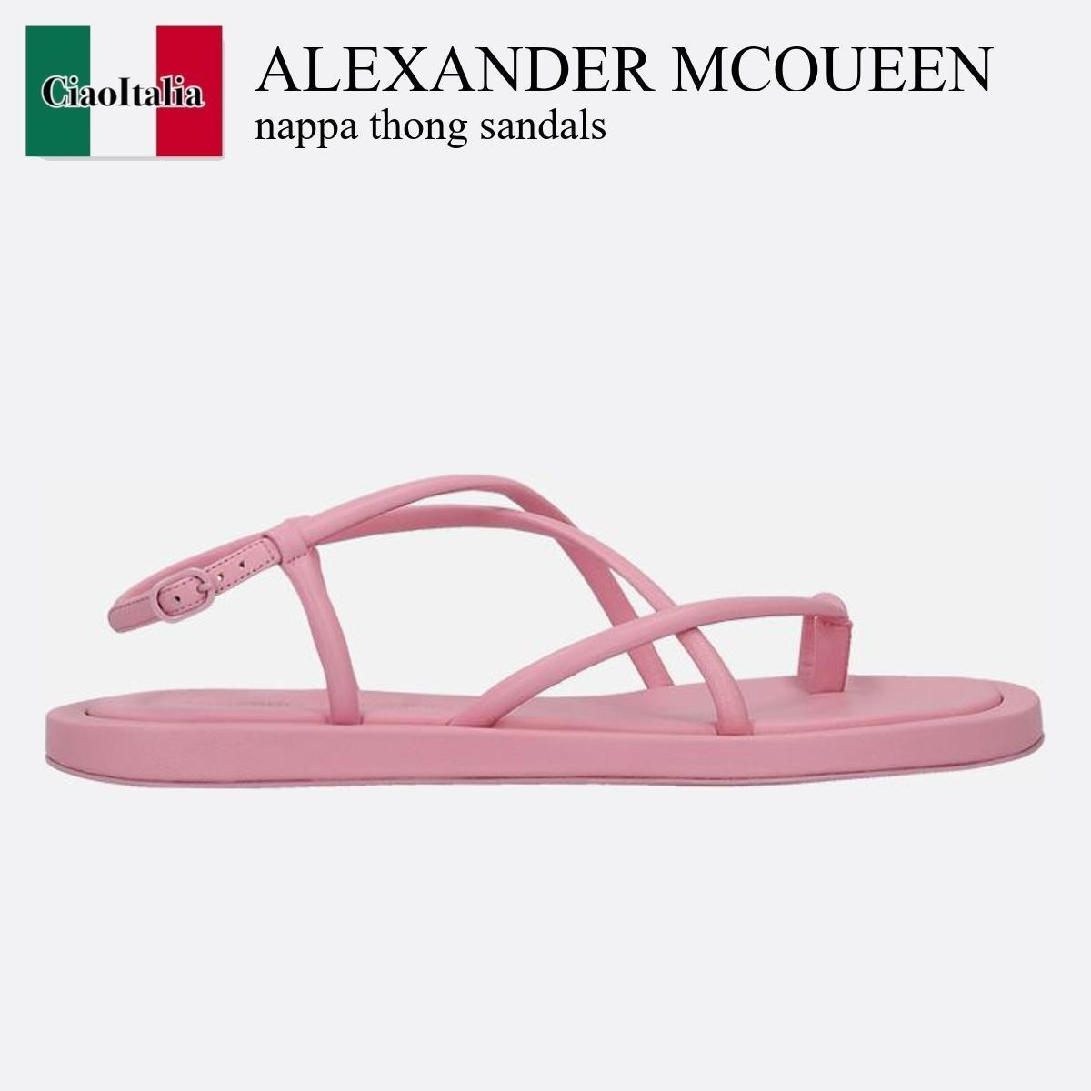 Alexander Mcqueen nappa thong sandals (alexander mcqueen/サンダル・ミュール) NAPPA THONG SANDALS  667373 WHW26  667373 WHW26 5483