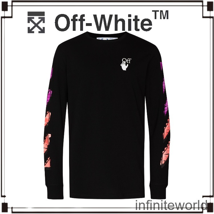 ◆OFF-WHITE◆Marker ロングTシャツ (Off-White/Tシャツ・カットソー) OMAB001R21JER0031032