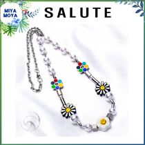 SALUTE(サルーテ) ネックレス・ペンダント ★SALUTE★FLOWER ANARCHY PEARL CHARMS NECKLACE★UNISEX