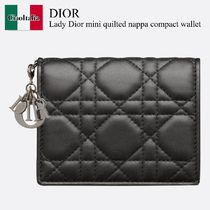 Lady Dior mini quilted nappa compact wallet