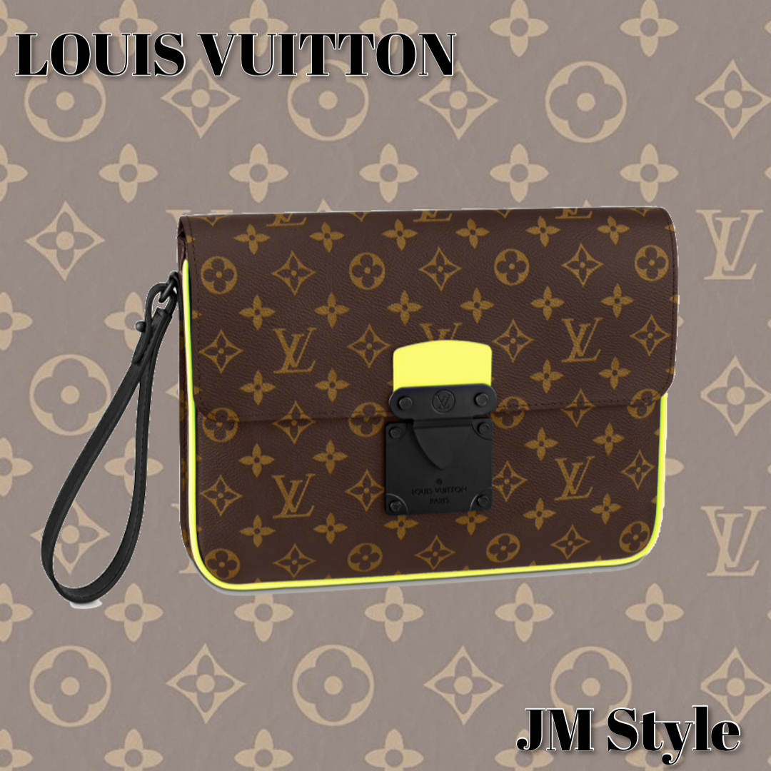 #LOUIS VUITTON#A4Sロックポーチ イエロー (Louis Vuitton/クラッチバッグ) M80774