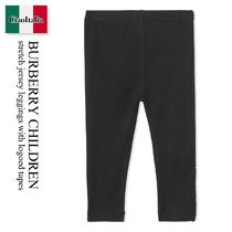 Burberry Children stretch jersey leggings with logoed tapes