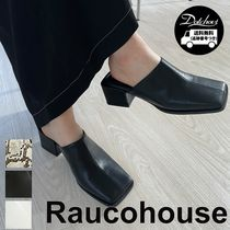 Raucohouse Square Simple Mule Blower YJ2456