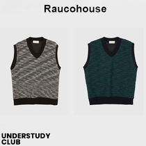 【RAUCOHOUSE】3-7日お届け / Two tone color mixed knit vest