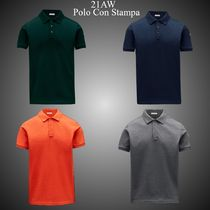 21AW★新作★MONCLER★Polo Con Stampa コットン ポロシャツ