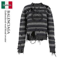 Balenciaga Embroidered wool blend sweater
