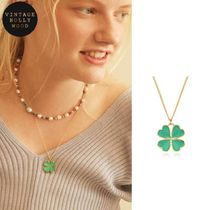 BTSテテ着用◆VINTAGE HOLLYWOOD◆ I'M LUCKY CLOVER NECKLACE