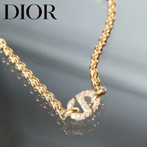 *21-22AW* DIOR CD NAVY ゴールド チェーンネックレス