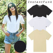 ★INSTANTFUNK★送料込み★21SS Logo Embroidered Basic T-shirt