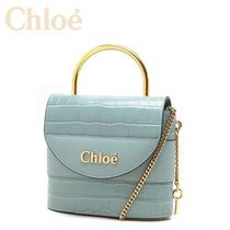 Croco Effect ☆Chloe☆ Small ABYLOCK 2wayバッグ FADED BLUE♪