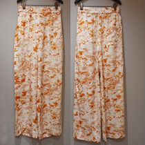 """""""COS"""" SALE!! ELASTICATED RELAXED-LEG TROUSERS WHITE/ORANGE"""