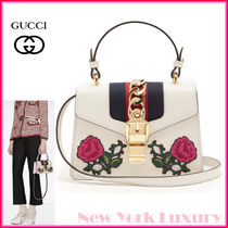 Gucci★素敵!Sylvie Leather Embroidered Mini Shoulder Bag