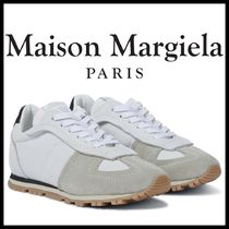 ★MAISON MARGIELA★Replica suede and leather sneakers