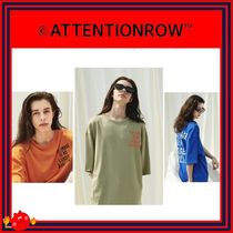 ATTENTIONROW(アテンションロー) Tシャツ・カットソー [ATTENTIONROW]Overlap Lettering Overfit Short T-shirt/追跡付