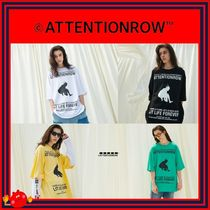 ATTENTIONROW(アテンションロー) Tシャツ・カットソー [ATTENTIONROW] Lit Life Overfit Short Sleeve T-shirt/追跡付