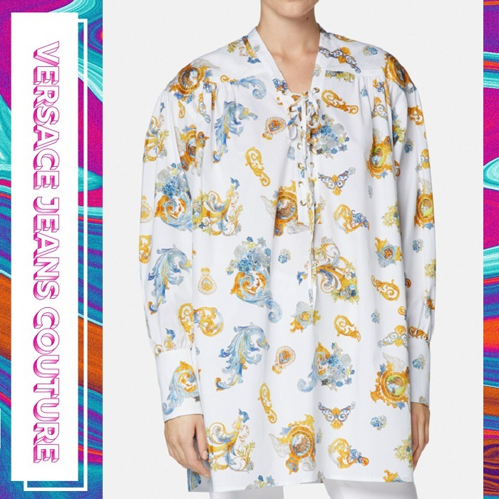 【Versace Jeans Couture】ロココ調プリントブラウス 長袖 (VERSACE JEANS/ブラウス・シャツ) 71459903