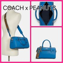 *COACH*Peanuts Rowan Satchel With Snoopy Print  関税込み♪