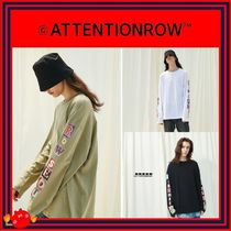 ATTENTIONROW(アテンションロー) Tシャツ・カットソー [ATTENTIONROW] Seoul Patchwork Overfit Long Sleeve/追跡付