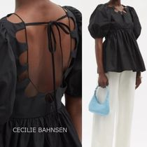 CECILIE BAHNSEN*送関税込*背中開き コットンふんわり袖ブラウス