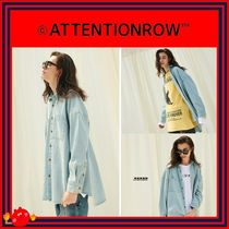 ATTENTIONROW(アテンションロー) Tシャツ・カットソー [ATTENTIONROW] Two Pocket Overfit Denim Shirt/追跡付