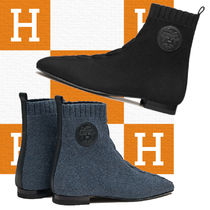 【HERMES】海外直営 ニットアンクルブーツ☆Duo Ankle Boots