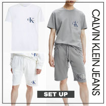 UK発★CALVIN KLEIN JEANS CKロゴ入りセットアップ