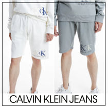 UK発★CALVIN KLEIN JEANS ロゴ入りコットンハーフパンツ