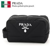 Prada quilted nylon pouch