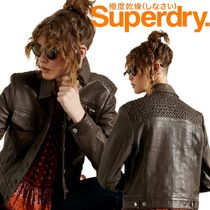 Superdry(極度乾燥しなさい)(Superdry(極度乾燥しなさい)) レザージャケット・コート 希少♦Superdry Leather Jacket レザージャケット