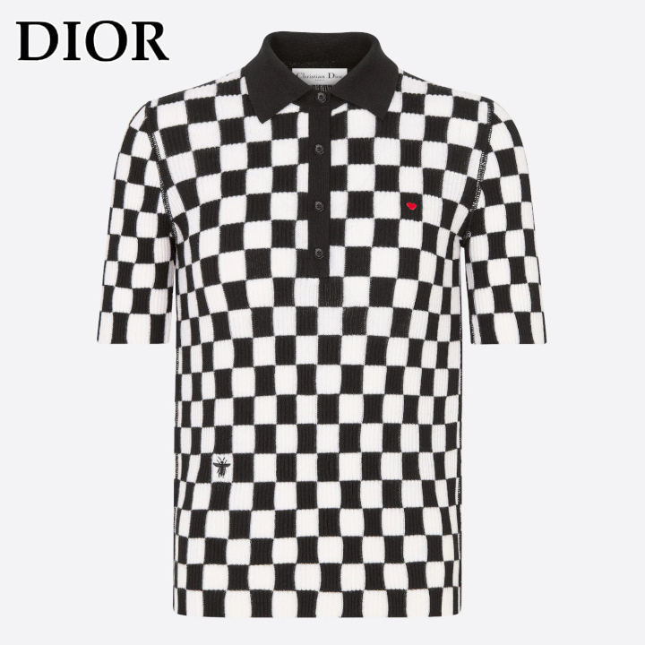 DIOR★DIORAMOUR ポロシャツ D-Chess Heart★すぐ届く! (Dior/ポロシャツ) 154S16AM107_X0836
