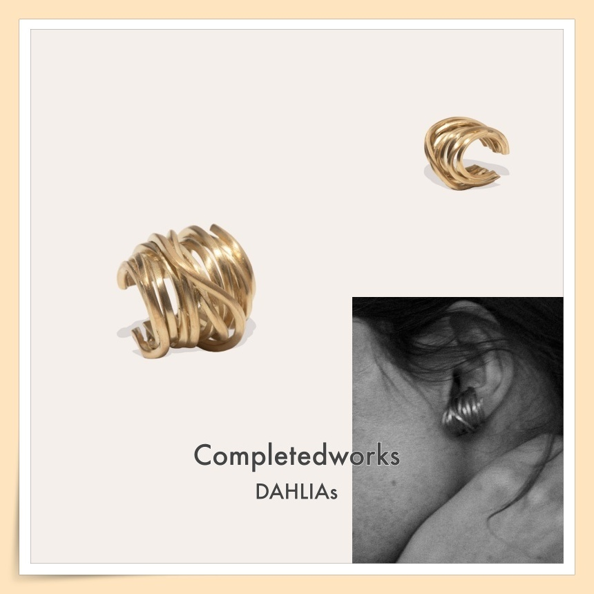 【Completedworks】ゴールドヴェルメイユ 楕円アーチ イヤーカフ (Completedworks/イヤリング) 71561067